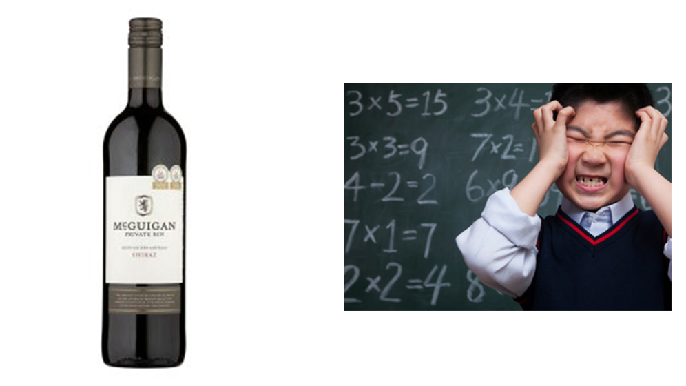 McGuigan Shiraz or Help from a Maths Expert?